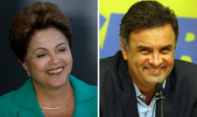 A eleição presidencial de 2014 também foi definida em 2º turno, novamente numa disputa entre PT e PSDB. Dilma Rousseff, candidata do PT à reeleição, obteve 41,5% dos votos. O candidato do PSDB, Aécio Neves, ficou com 33,6% dos votos na primeira votação. Marina Silva, do PSB, que construiu sua candidatura como uma 3ª via contra a polarização entre PT e PSDB, ficou com 21,3% dos votos.