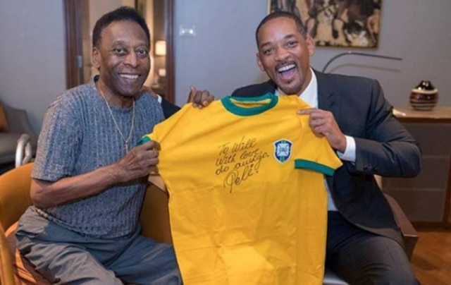 Pelé e Will Smith.