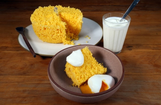 Café da manhã.O chef Rodrigo Oliveira passou a receita do cuscuz marroquino com requeijão caseiro que faz para os filhos