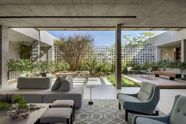 Casa Finitura por Deborah Pinheiro Arquitetura, um dos ambientes expostos no Casacor Brasília