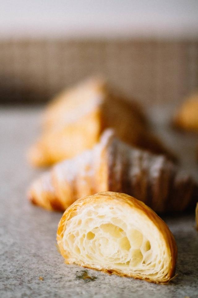 Croissant clássico, sem recheio, do novo Mintchi.