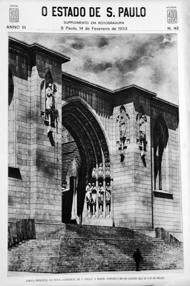 Catedral da Sé, em fevereiro de 1933.
