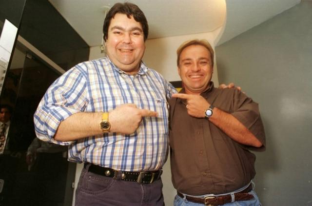 Fausto Silva e GuguLiberato em 1996.