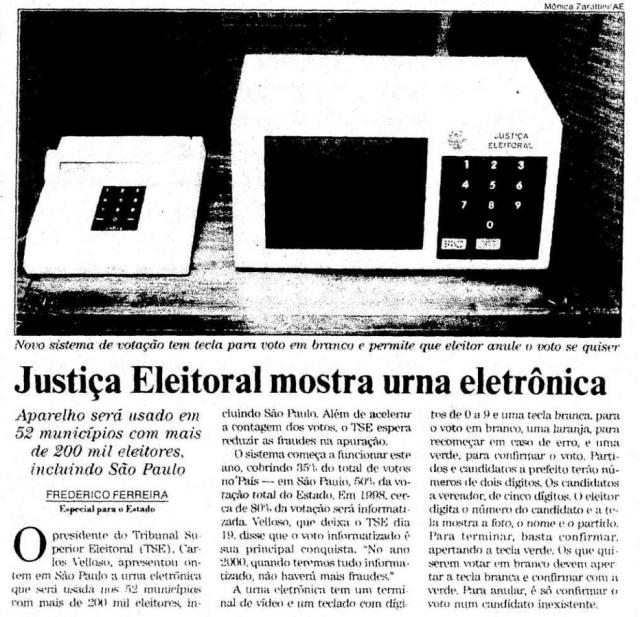 >> Estadão - 07/5/1996