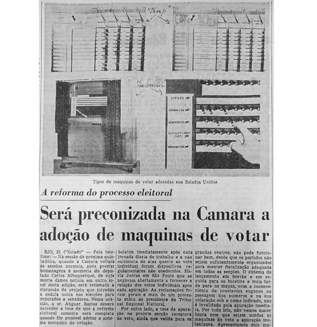 >> Estadão - 22/10/1958