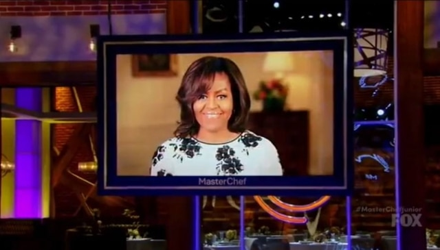 Michelle Obama é uma das convidadas na versão norte-americana do MasterChef Junior.