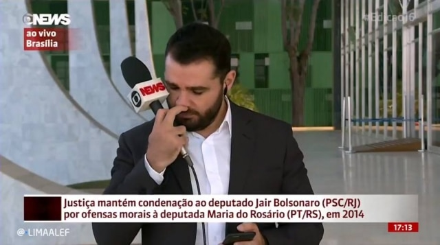 Marcelo Cosme entrou ao vivo de Brasília