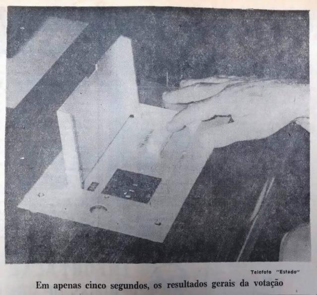 Controle devotação eletrônica na Câmaraem 1972