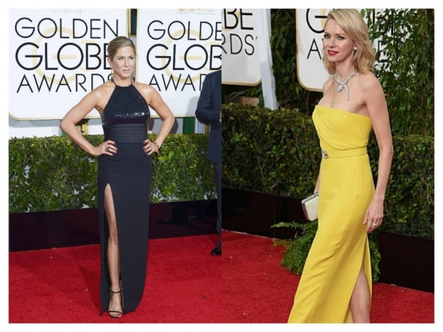 Jennifer Aniston de Yves Saunt Laurent e Naomi Watts de Gucci