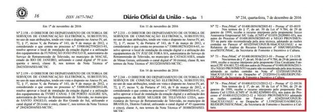 Decisão foi publicada no 'Diário Oficial da União'