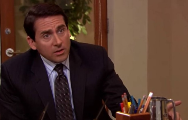 Steve Carell, na foto, interpretou por sete temporadas o personagem principal da série, Michael Scott.