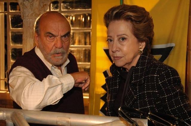 Lima Duarte e Fernanda Montenegro em cena de 'Belíssima'.
