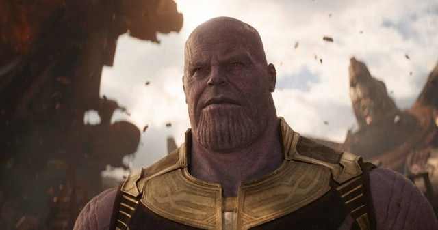 O personagem Thanos, de 'Vingadores'.