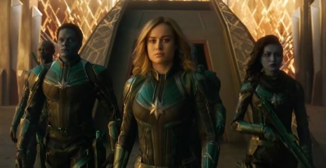 Atriz Brie Larson como Capitã Marvel.