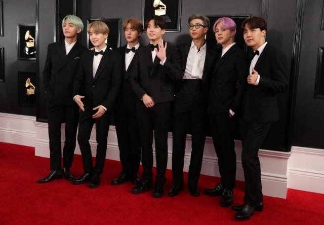 O grupo coreano BTS.