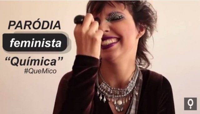 As feministas recriaram Química do cantor Biel, para combater a cultura de estupro.