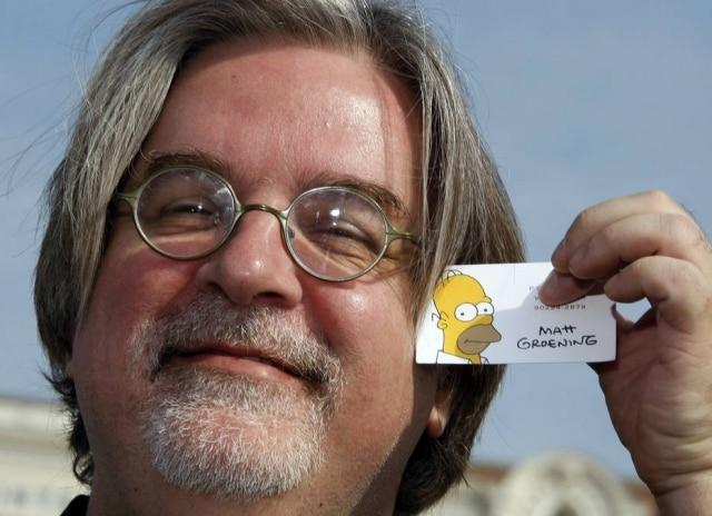 Matt Groening, criador da série 'Os Simpsons', fez charge comemorando a compra da Fox pela Disney