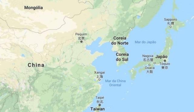 O Japão e a Coreia do Sul são países vizinhos