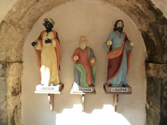 Esculturas dos três reis magos, Baltazar, Belchior e Gaspar, em Natal, no Rio Grande do Norte.
