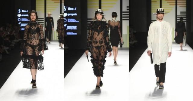 A coleção 'Volver a comenzar' (Voltar a começar) foi a que mais apresentou referências de trajes típicosnesta edição da semana de moda da Colômbia