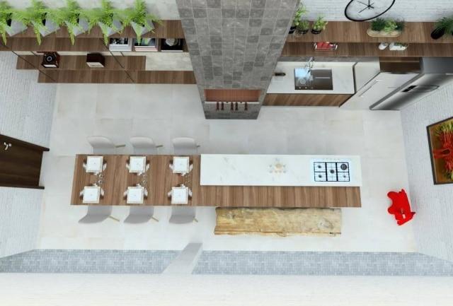 Planta da área gourmet projetada para o leitor doCasa