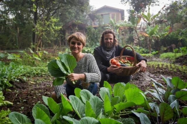 Lis Cereja e seu marido Ramatis Russo, organizadores da feira Naturebas