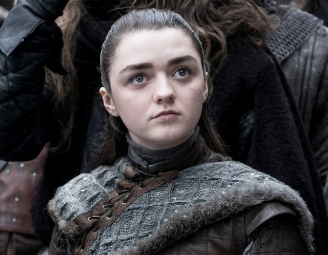 Maisie Williams no papel de Arya Stark, em 'Game of Thrones'.