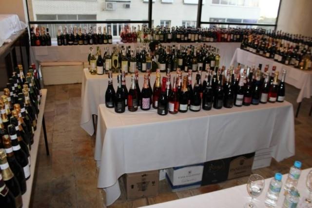 Rótulos para serem degustados na Grande Prova Vinhos do Brasil, em edição passada