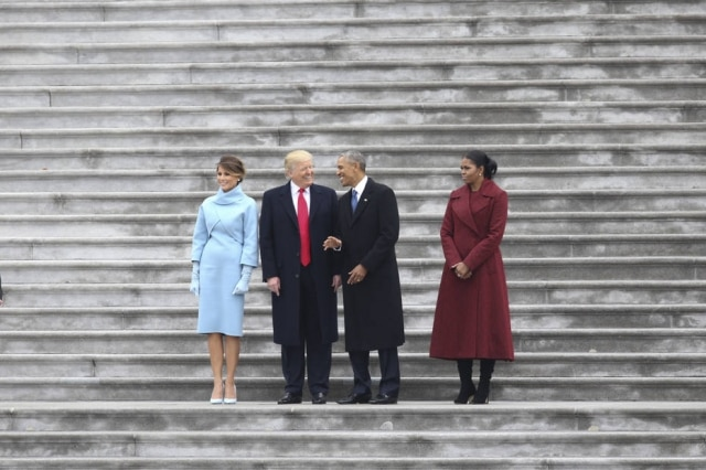 Melania Trump, Donald Trump, Barack Obama e Michelle Obama.