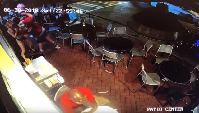 Reação bruscarealizado pela mulher contra o homem assediadoraconteceu durante o horário de trabalho dela.