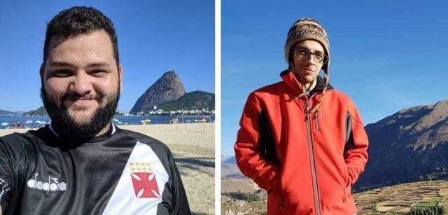 Guilherme Braga (à esquerda) e Marcos Lourenço (à direita) são os criadores do 'Guerra Mundial Rio 2020' e 'Guerra Mundial São Paulo 2020', respectivamente. Foto: Arquivo pessoal.
