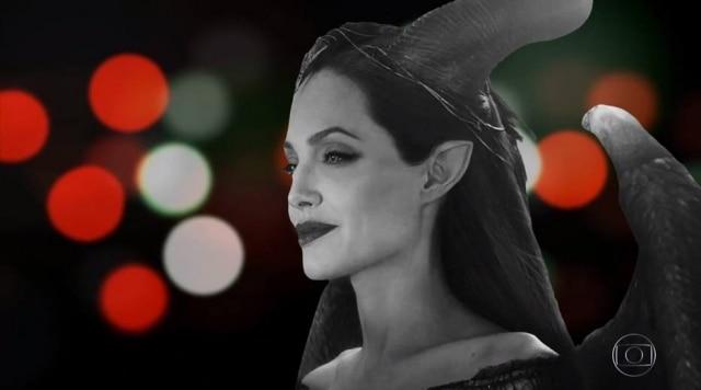 Última cena de 'Malévola', com Angelina Jolie, em dia de estreia de 'Avenida Brasil' no 'Vale a Pena Ver de Novo', com efeito da novela.