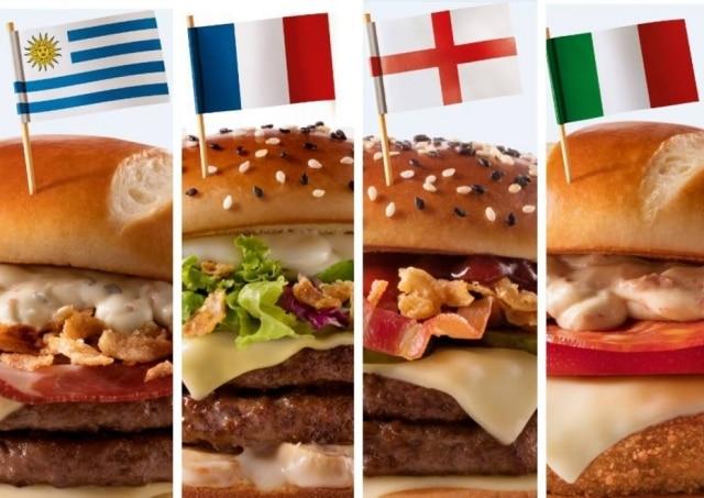 Sanduíches do McDonald's para a Copa da Rússia.