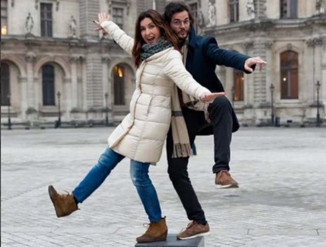 A apresentadora Fátima Bernardes e o advogado Túlio Gadêlha em viagem a Paris