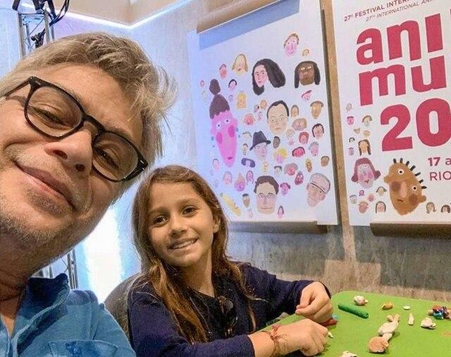 Fábio Assunção e a filha Ella.