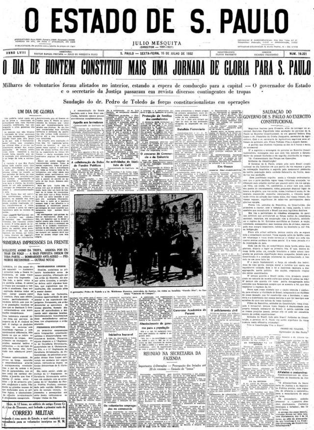 Estadão - 15/7/1932
