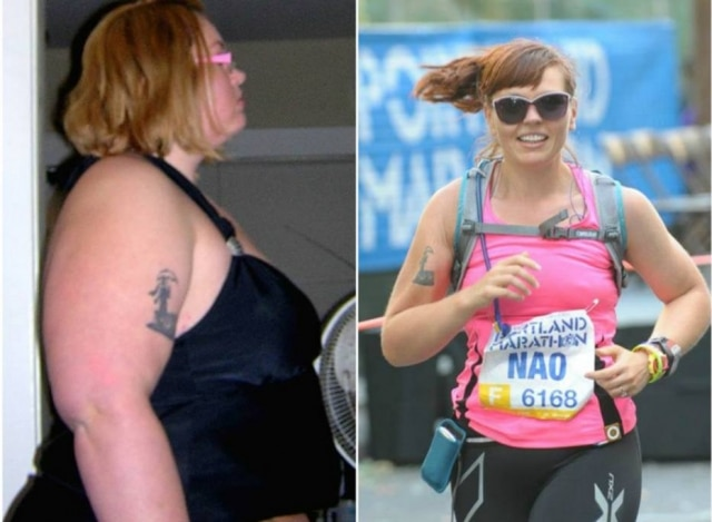 Após mudanças de hábitos alimentares e exercícios físicos, mulher mudou de vida.