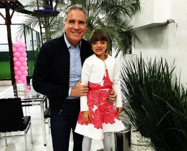 Roberto Justus e a filha, Rafaella.