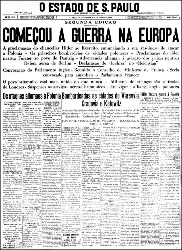 O Estado de S.Paulo - 01/9/1939