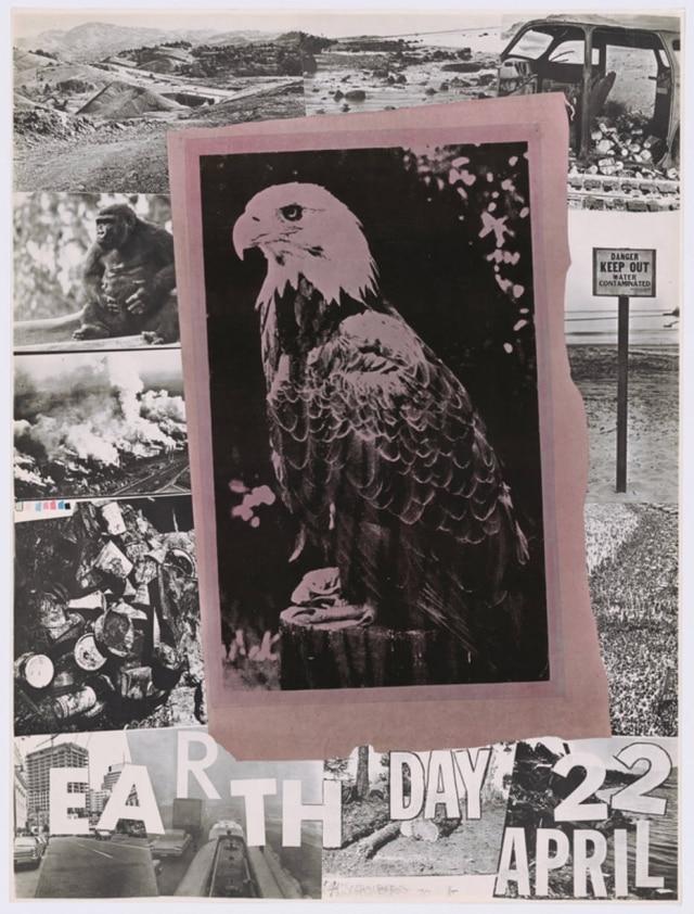 Cartazcriado pelo artistaRobert Rauschenbergpara o 1º Dia da Terra em 1970.
