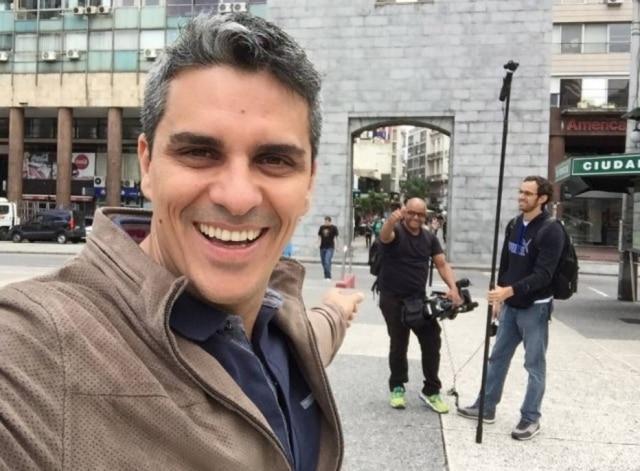 Andre Gallindo, jornalista esportivo da TV Globo.