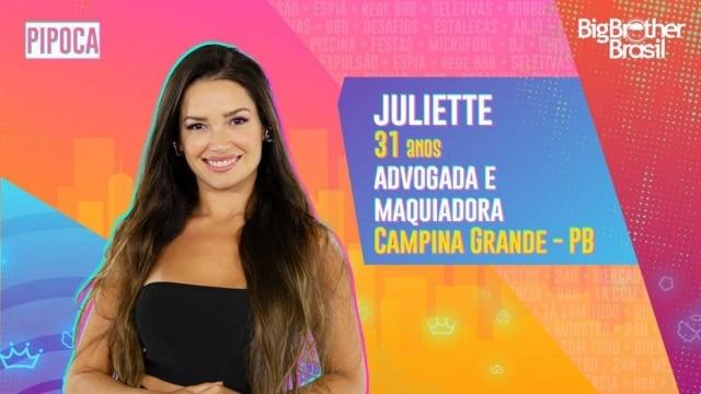 Juliette, 31,é advogada e maquiadora. Nasceu em Campina Grande e mora em João Pessoa, na Paraíba.