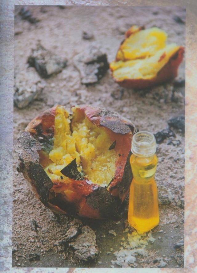 Batata-doce assada com manteiga de garrafa feita por Thiago Castanho
