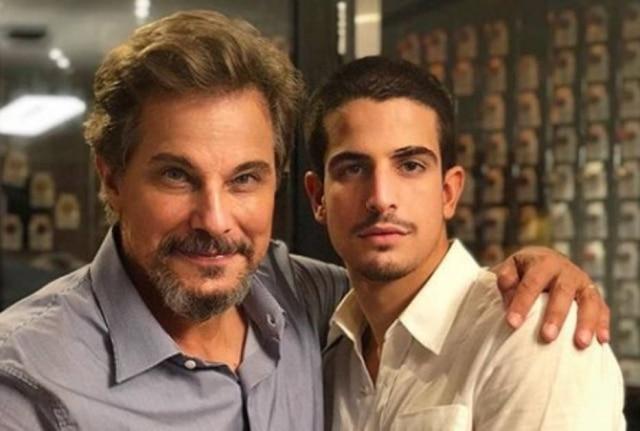Edson Celulari e seu filho, Enzo.