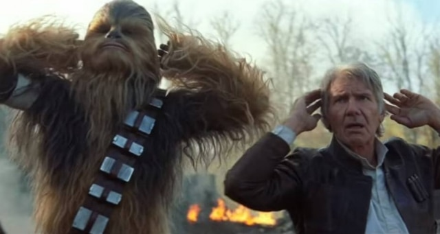 Chewbacca e Han Solo, personagens de 'Star Wars'