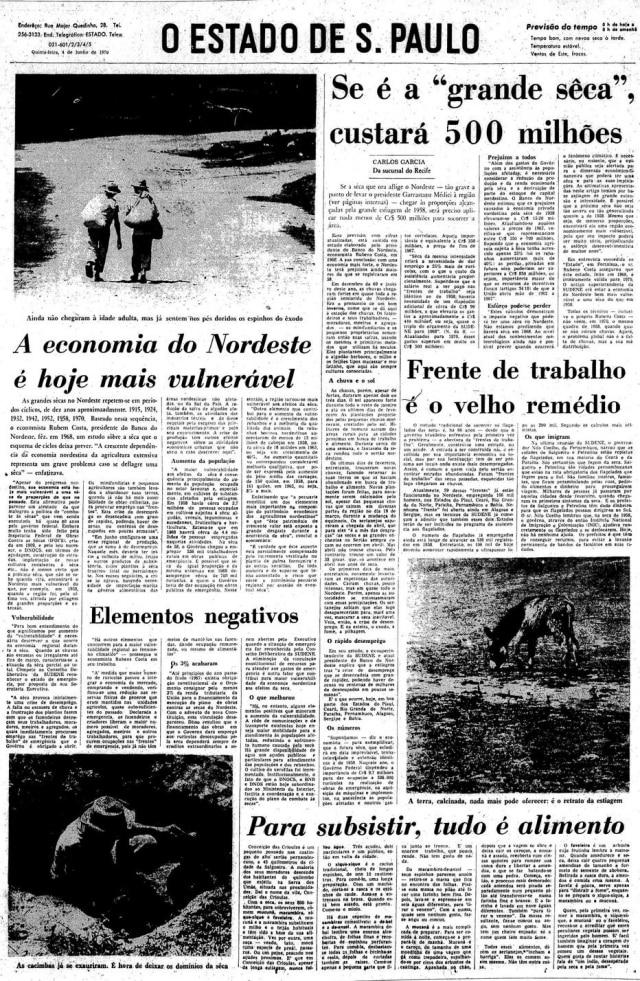 Reportagem de Carlos Garcia,4/6/1970.