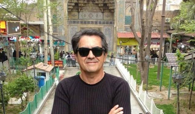 Luiz Thadeu em Teerã, capital do Irã.