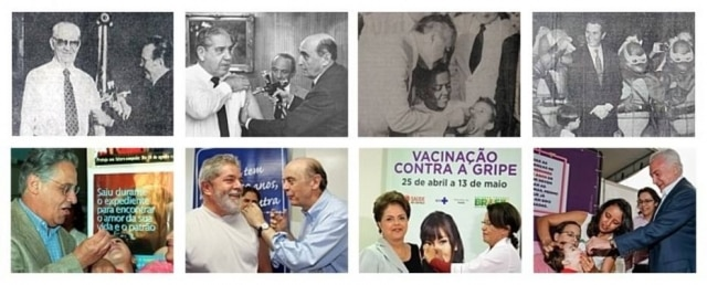 Presidentes da República participaram ativamente em diferentes campanhas de vacinação durante seus governos, incentivando a população a se vacinar e mostrando que os imunizantes são seguros.