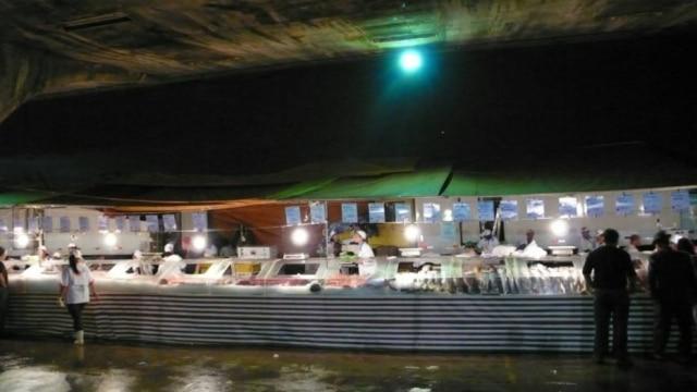 Balcão de pescados na Ceagesp