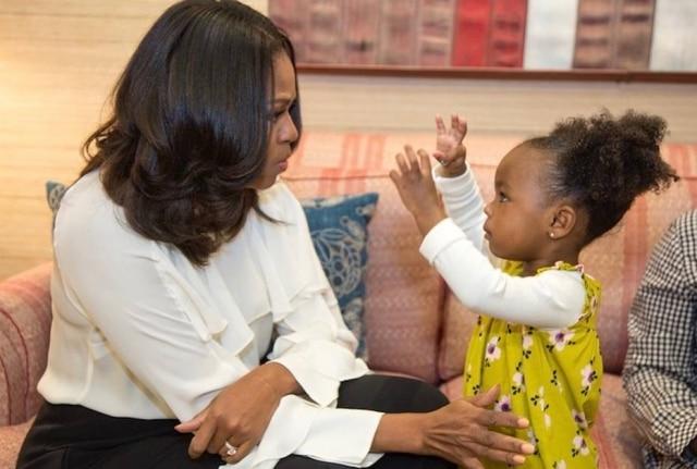 Michelle Obama conheceu sua pequena fã, Parker Curry